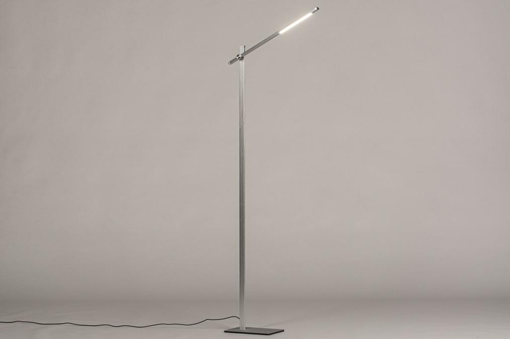 Vloerlamp 14102: modern, aluminium, metaal, staalgrijs #0