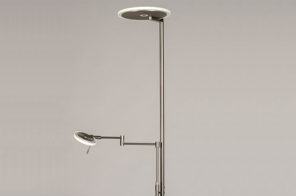 Vloerlamp 14106: design, modern, glas, helder glas #0