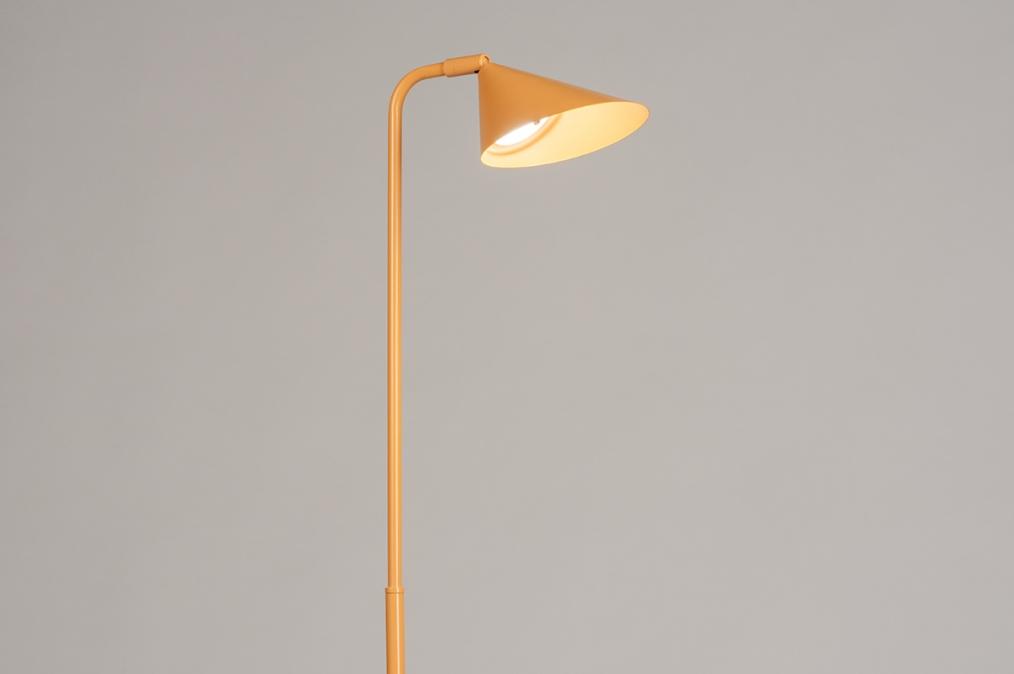 Vloerlamp 14134: design, modern, metaal, geel #0