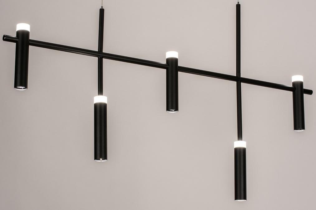 Hanglamp 14135: design, modern, metaal, zwart #0