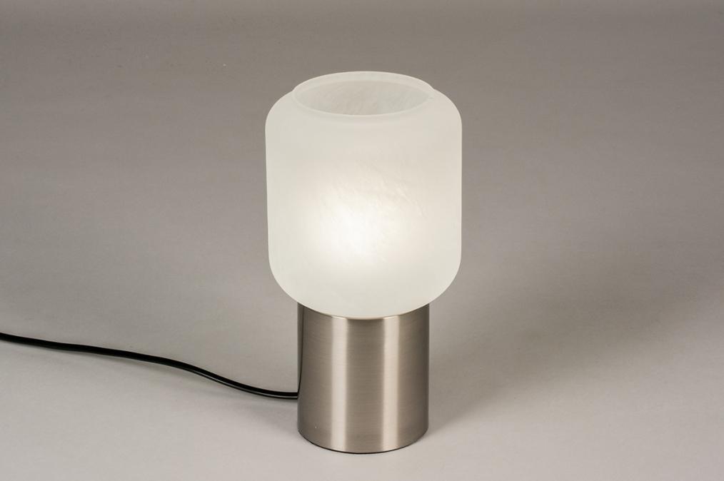 Tafellamp 14137: landelijk, rustiek, modern, glas #0