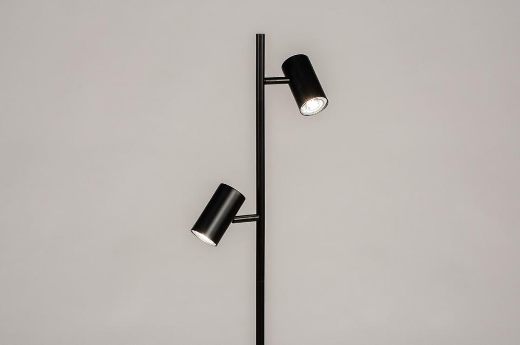 Vloerlamp 14164: modern, retro, metaal, zwart #0