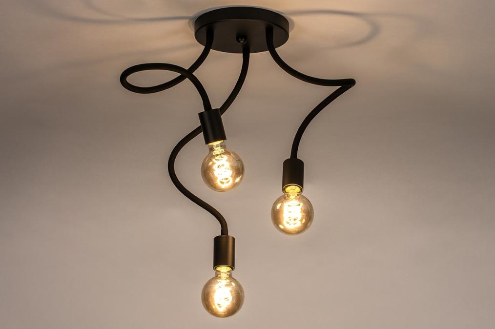 Plafondlamp 14166: industrie, look, modern, metaal #0