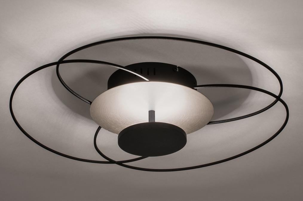 Plafondlamp 14169: modern, klassiek, eigentijds klassiek, metaal #0
