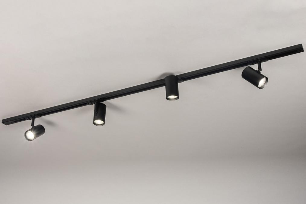 Railspot 14174: modern, metaal, zwart, mat #0