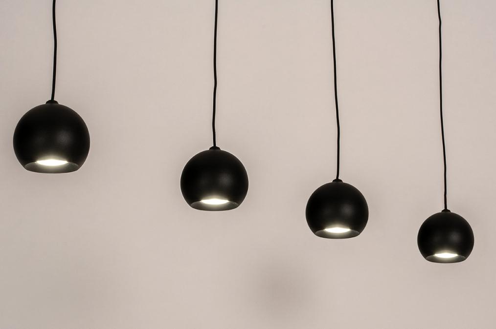 Hanglamp 14251: modern, retro, metaal, zwart #0