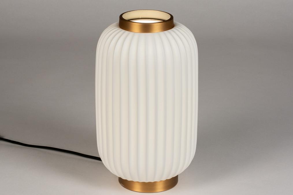 Tafellamp 14268: modern, eigentijds klassiek, art deco, metaal #0