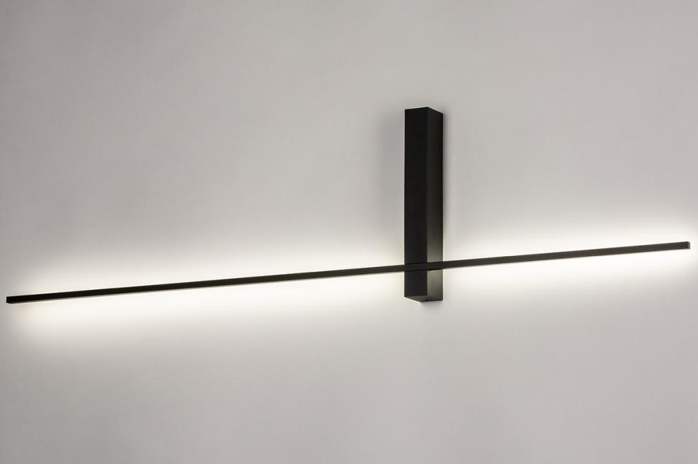 Wandlamp 14273: modern, aluminium, metaal, zwart #0