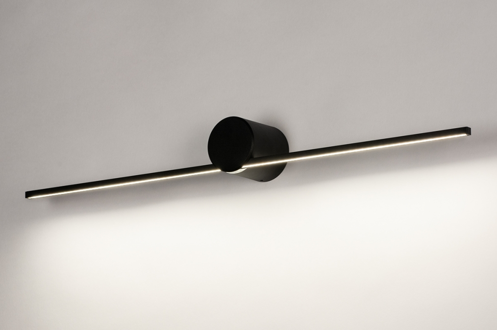 Wandlamp 14274: design, modern, aluminium, zwart #0