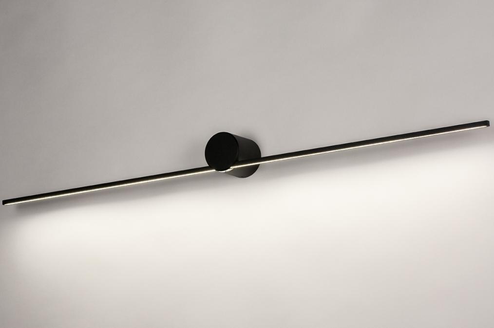 Wandlamp 14275: design, modern, aluminium, zwart #0