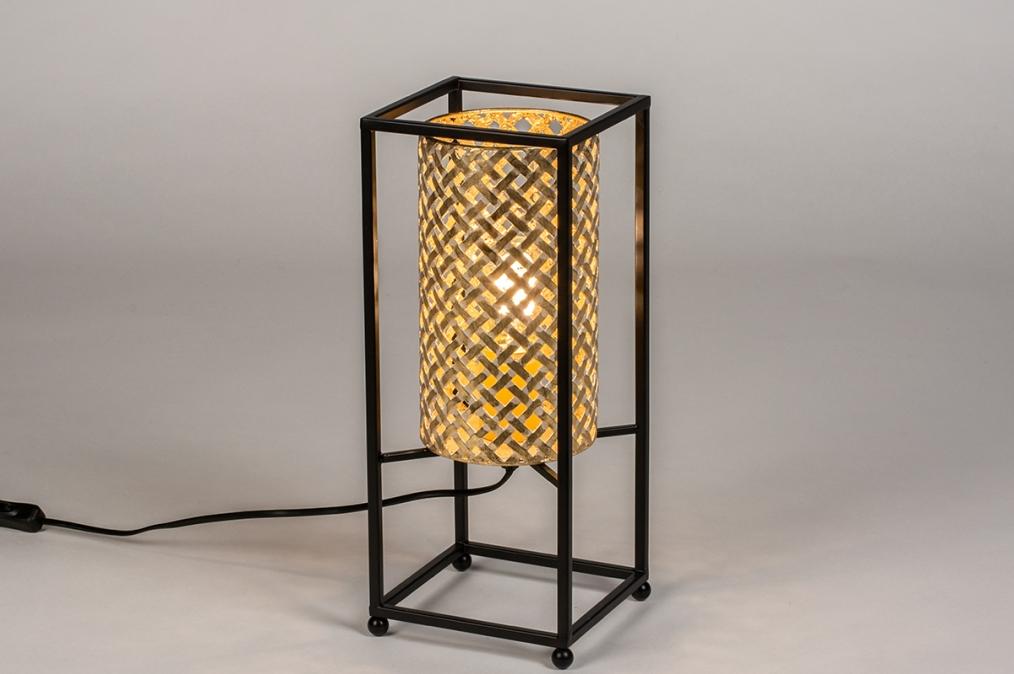 Tafellamp 14330: modern, metaal, zwart, mat #0