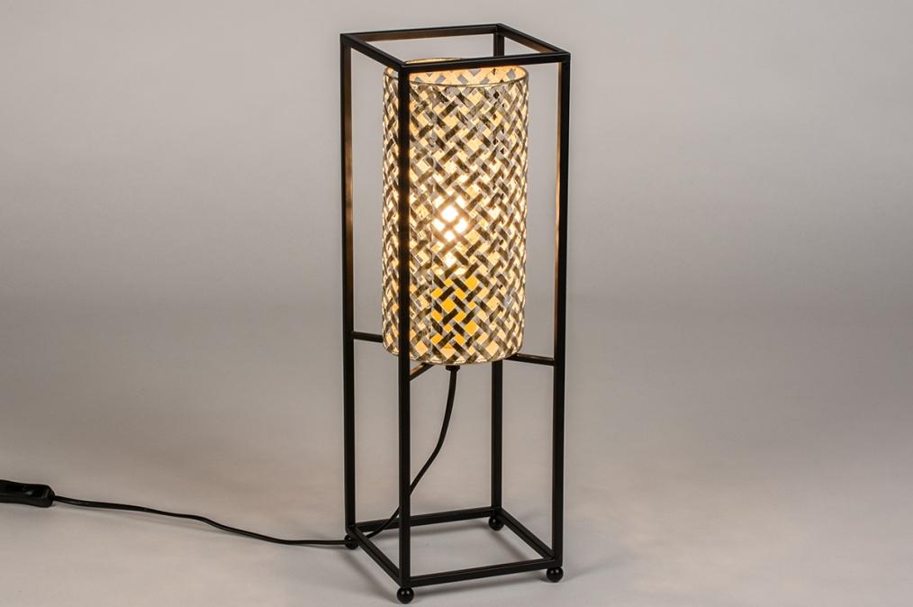 Tafellamp 14331: landelijk, rustiek, modern, metaal #0