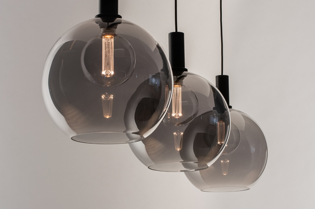 Hanglamp 14332: modern, retro, glas, metaal #0