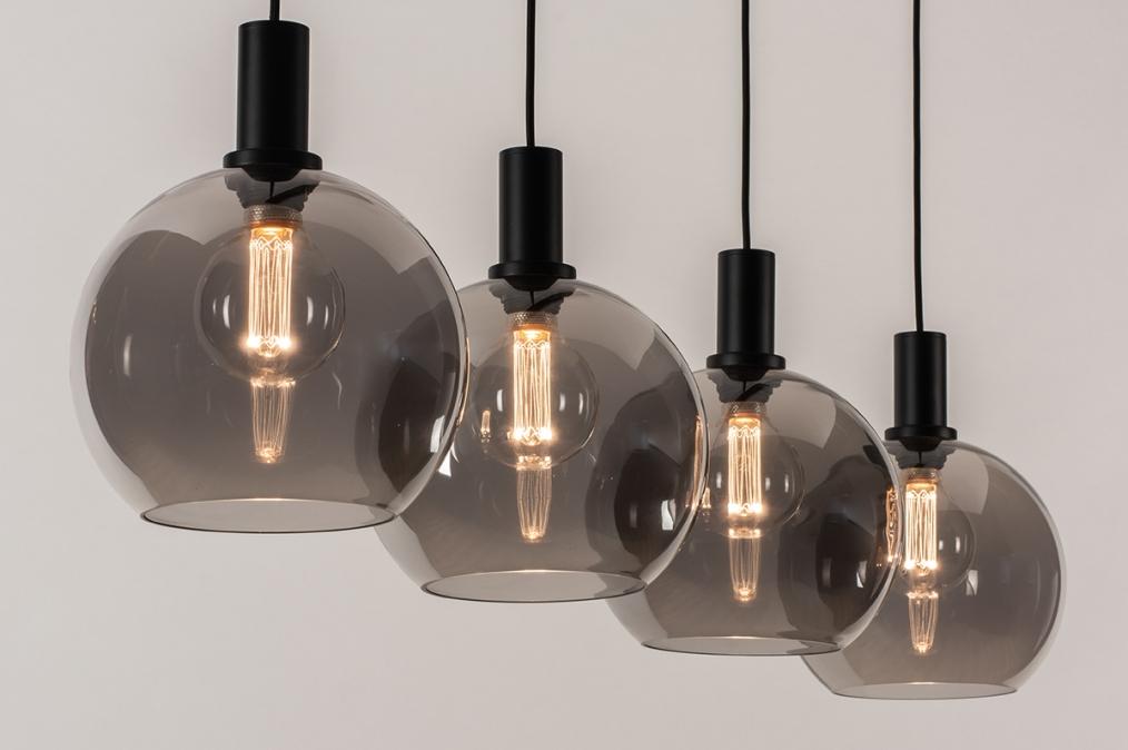 Hanglamp 14333: modern, retro, glas, metaal #0