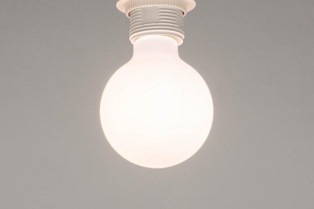Lichtbron 274: glas, wit opaalglas, wit, rond #0
