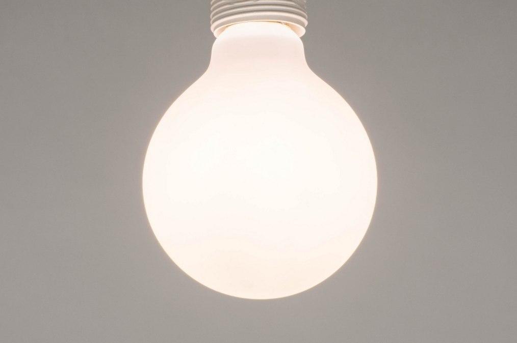 Lichtbron 275: glas, wit opaalglas, wit, rond #0