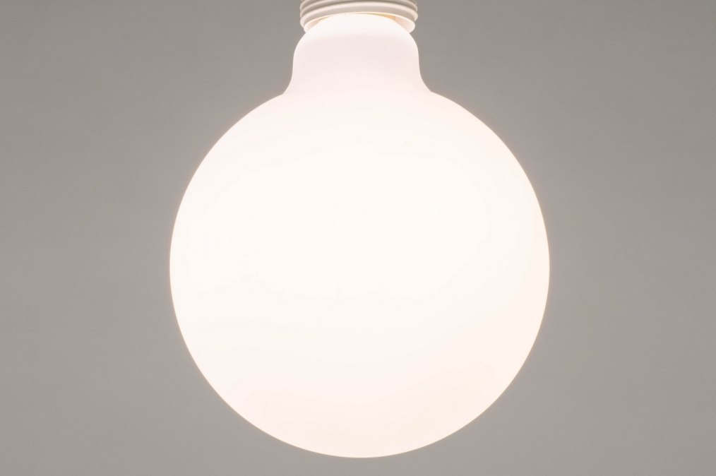 Lichtbron 276: glas, wit opaalglas, wit, rond #0