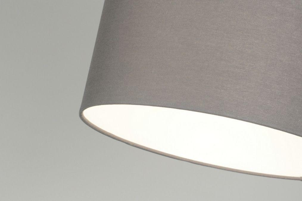 pendelleuchte 30007 laendlich rustikal modern stoff grau. Black Bedroom Furniture Sets. Home Design Ideas