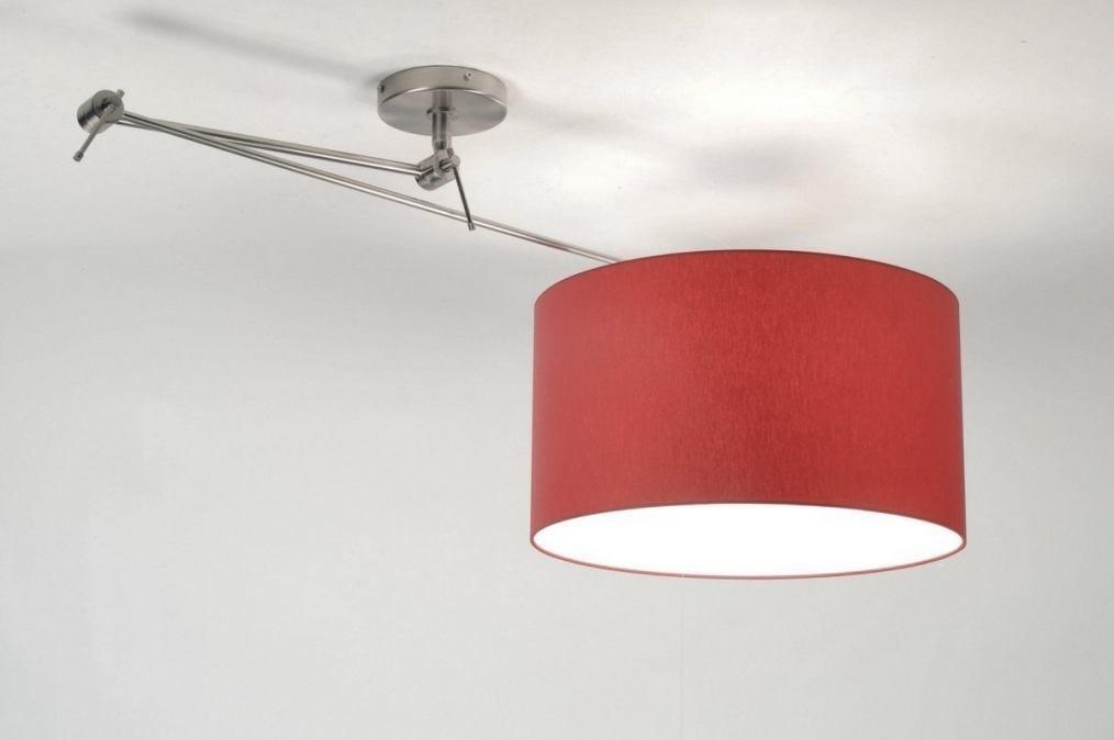 hanglamp modern eigentijds klassiek rood metaal