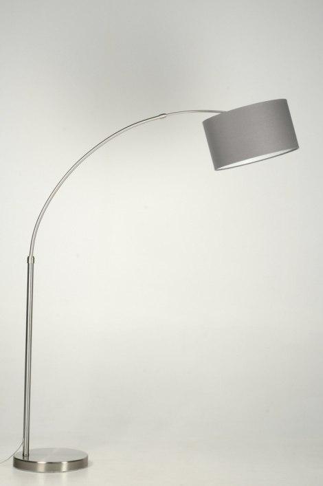 Staande lamp 30013 modern eigentijds klassiek landelijk rustiek grijs - Eigentijds huis grijs ...