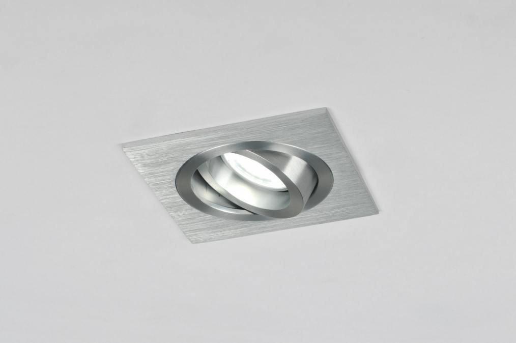 Inbouwspot 30022: modern, aluminium, geschuurd aluminium, metaal #0
