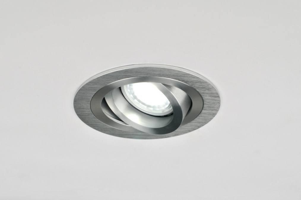 Inbouwspot 30023: modern, aluminium, aluminium, geschuurd aluminium #0