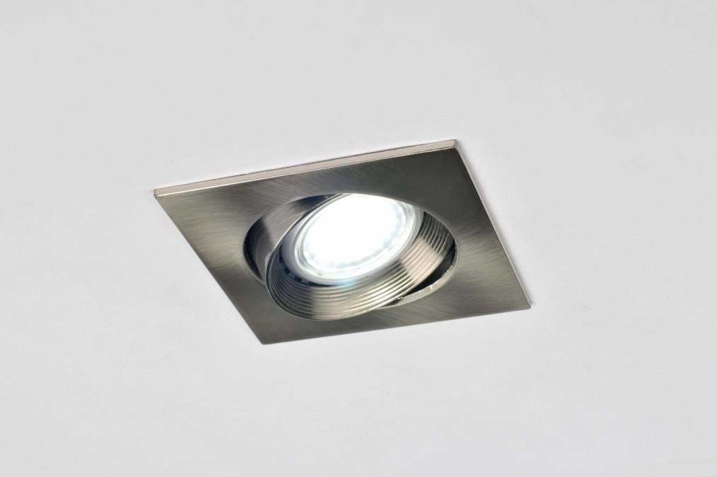 Recessed spotlight 30027: modern, stainless steel, metal, steel gray #0