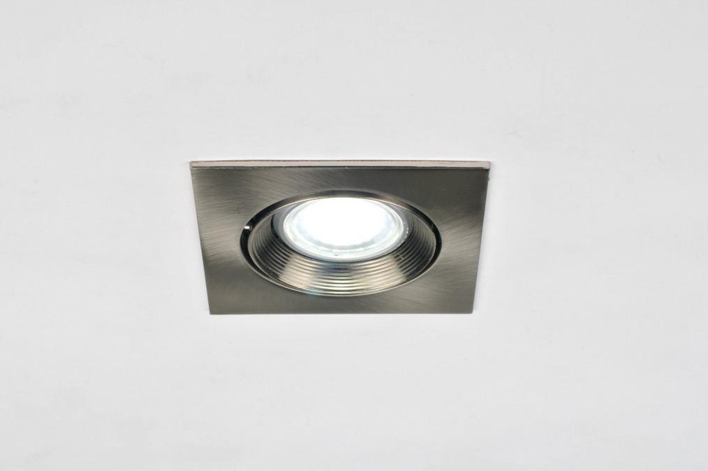 Licht Spots Inbouw : Inbouwspot modern staalgrijs metaal staal rvs