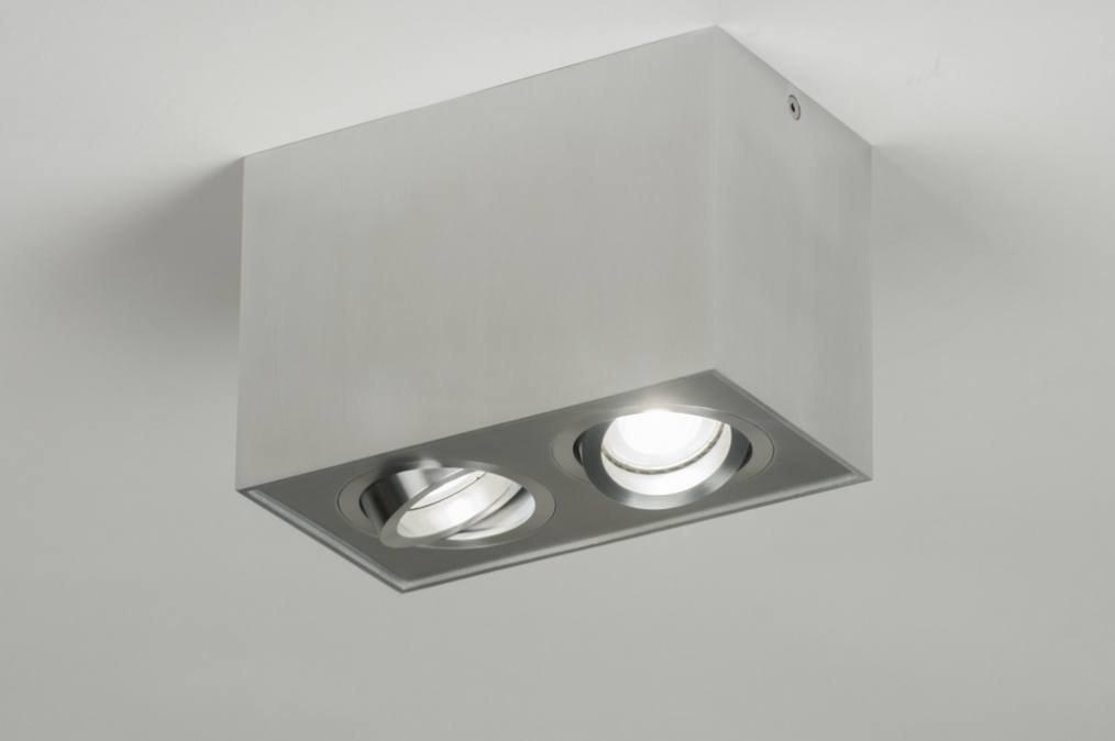 Spot 30048: design, modern, geschuurd aluminium, metaal #0
