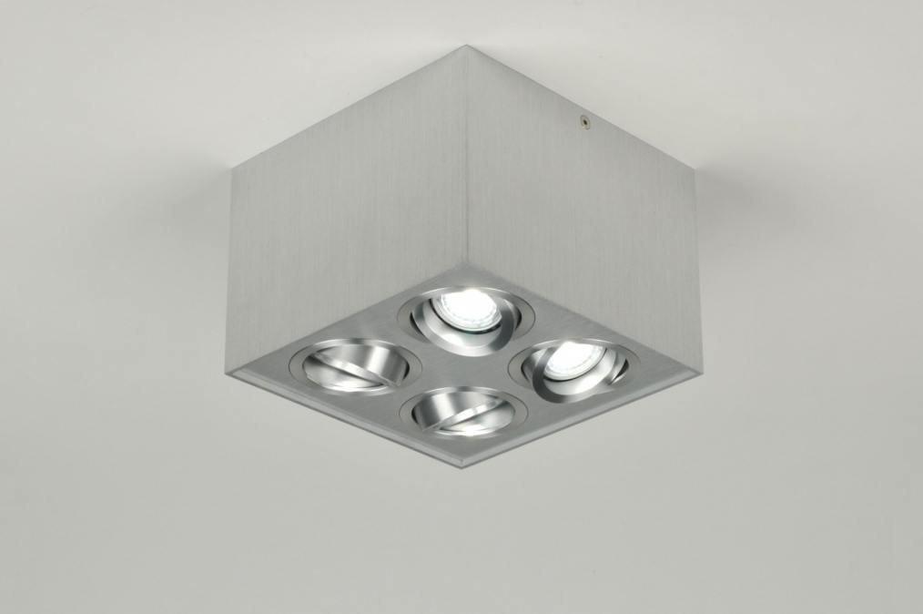 Spotlight 30049: designer, modern, aluminium, sanded aluminium #0