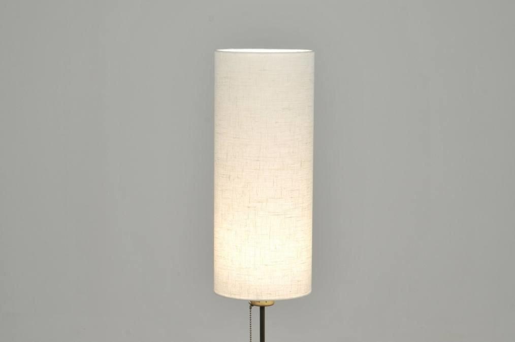 Vloerlamp 30084: modern, eigentijds klassiek, brons roest bruin, creme #0