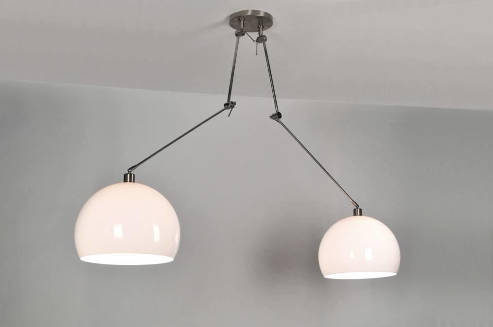 Hanglamp 30111: modern, kunststof, wit, rond #0