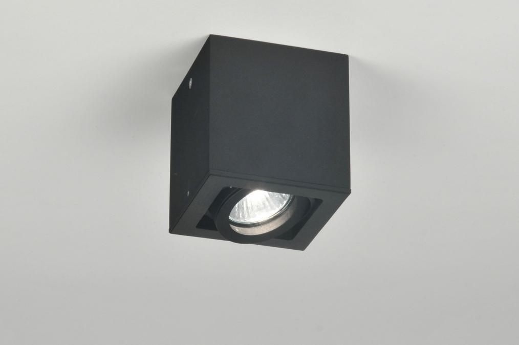Plafondlamp 30117: modern, design, zwart, mat #0