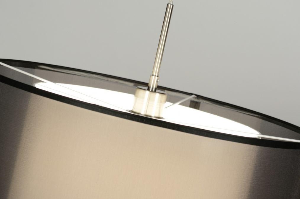 pendelleuchte 30131 modern schwarz stoff rund. Black Bedroom Furniture Sets. Home Design Ideas