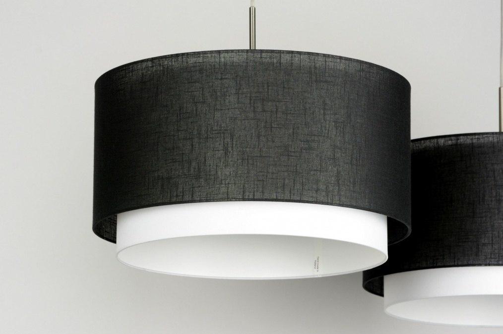 pendelleuchte 30134 modern schwarz stoff rund. Black Bedroom Furniture Sets. Home Design Ideas