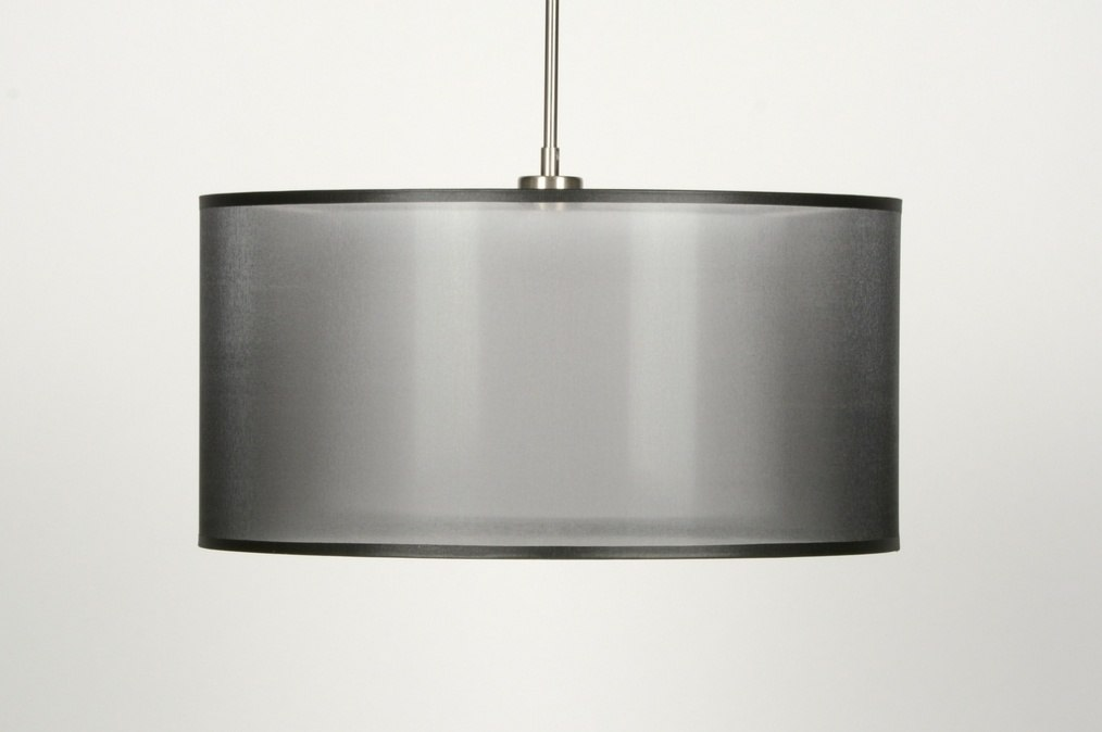 pendelleuchte 30136 modern schwarz stoff rund. Black Bedroom Furniture Sets. Home Design Ideas
