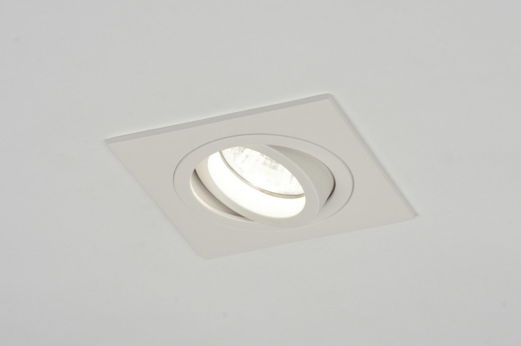 Inbouwspot 30153: modern, wit, mat, aluminium #0