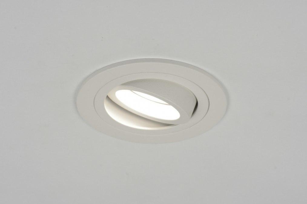 Recessed spotlight 30154: modern, aluminium, metal, white #0