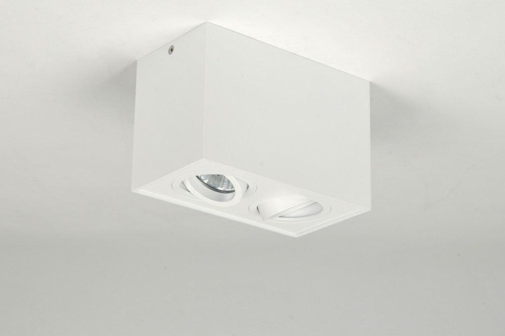 Plafondlamp 30158: modern, design, wit, mat #0