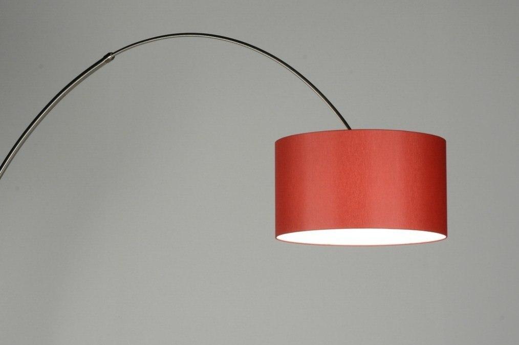 Vloerlamp 30179: modern, eigentijds klassiek, staal rvs, stof #0