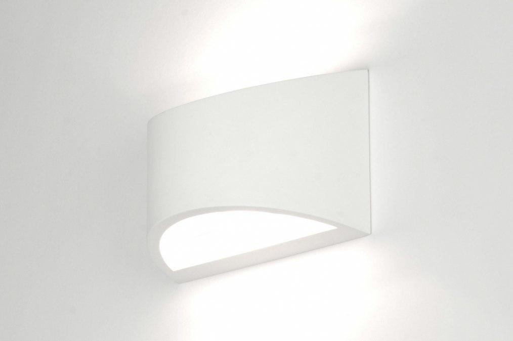Wandlamp 30208: modern, landelijk, rustiek, wit #0