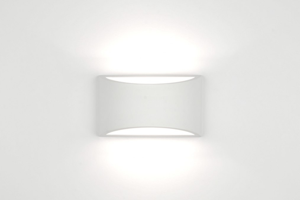 applique murale 30208 moderne ceramique blanc mat. Black Bedroom Furniture Sets. Home Design Ideas