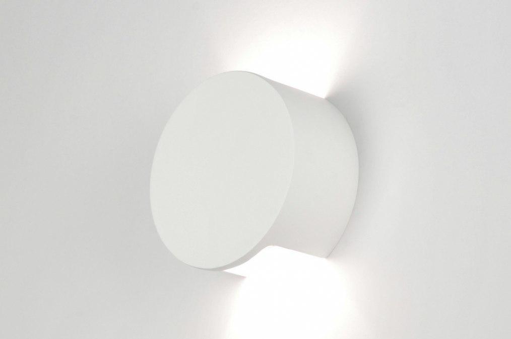 Wandlamp 30211: modern, wit, mat, keramiek #0