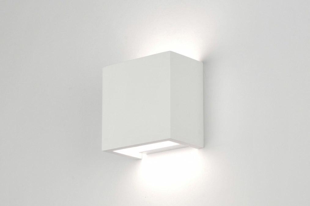 Wandlamp 30213: modern, landelijk, rustiek, wit #0