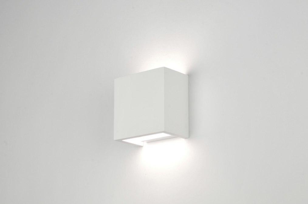 Bekend Wandlamp 30213: Modern, Landelijk, Rustiek, Wit BF57