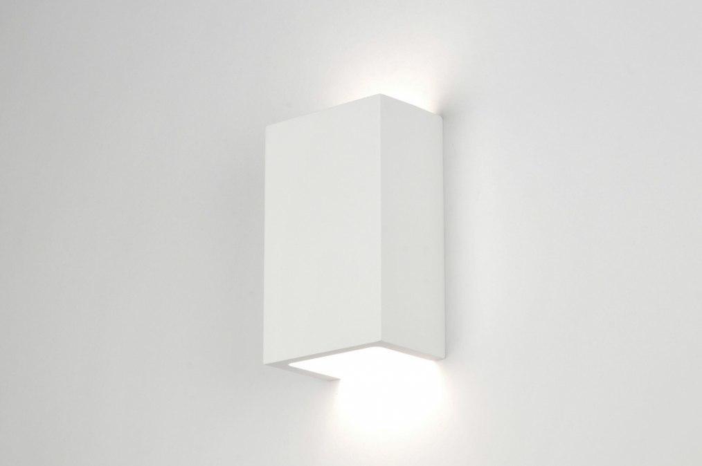 Wandlamp 30214: modern, landelijk, rustiek, wit #0