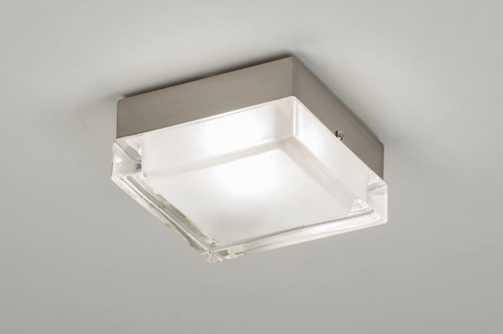 Ceiling lamp 30216: modern, retro, glass, clear glass #0