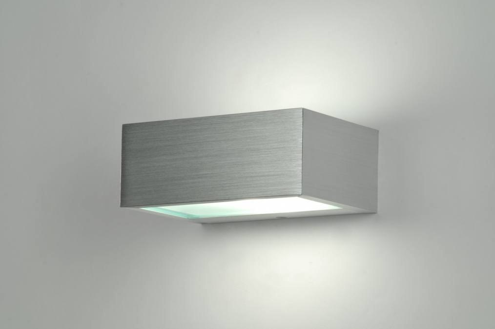 Wandlamp 30225: modern, aluminium, geschuurd aluminium, metaal #0