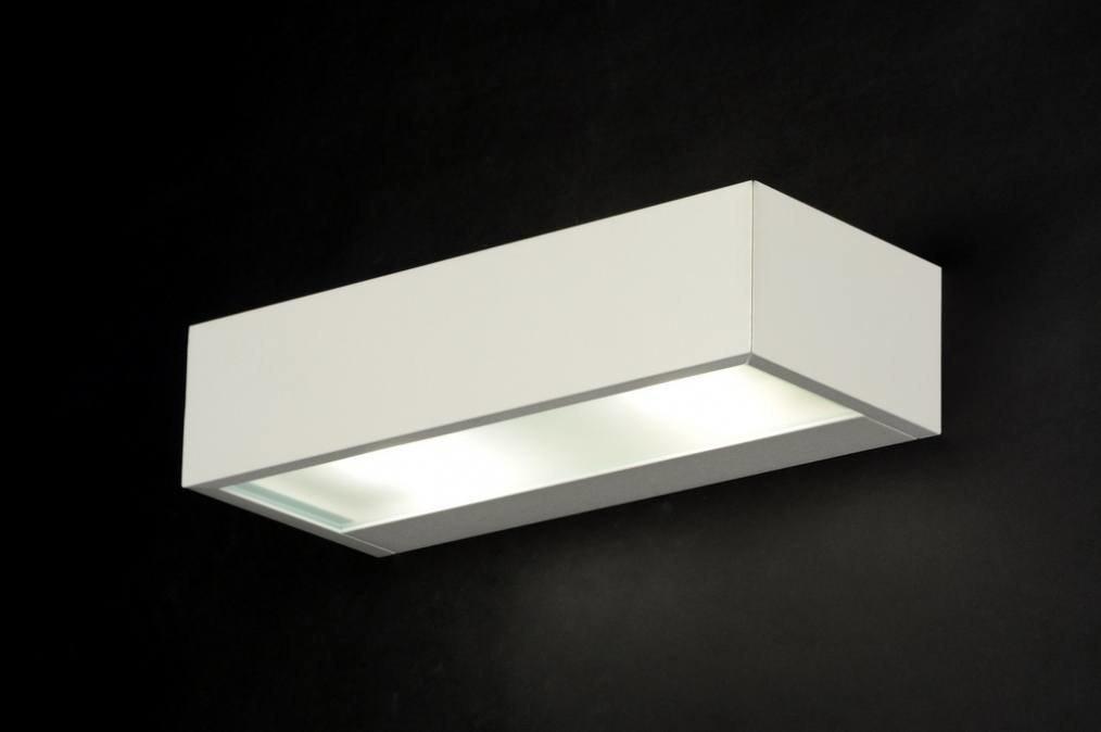 Wandlamp 30227: modern, wit, mat, aluminium #0