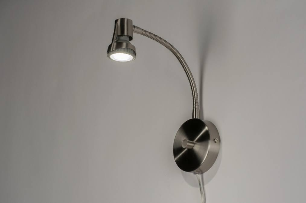 Wandlamp Met Snoer : Wandlamp modern metaal staal rvs rond